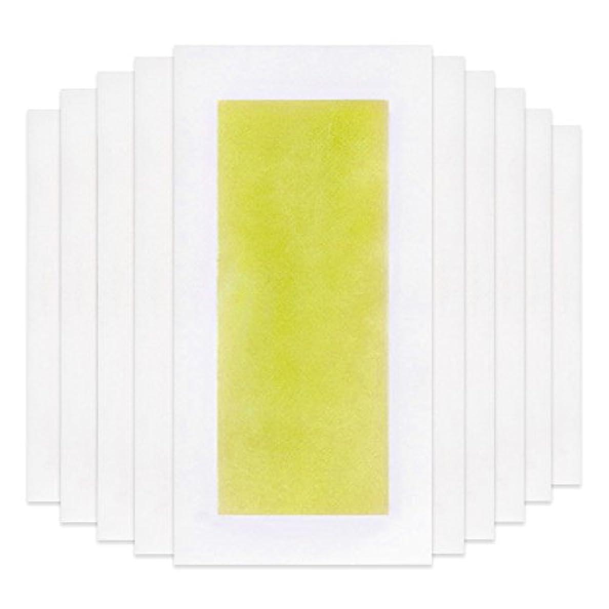 準備ができて境界予言するRabugoo 脚の身体の顔のための10個のプロフェッショナルな夏の脱毛ダブルサイドコールドワックスストリップ紙 Yellow