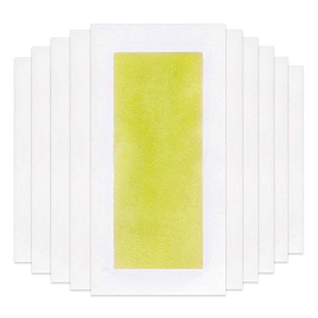 公平ロイヤリティRabugoo 脚の身体の顔のための10個のプロフェッショナルな夏の脱毛ダブルサイドコールドワックスストリップ紙 Yellow