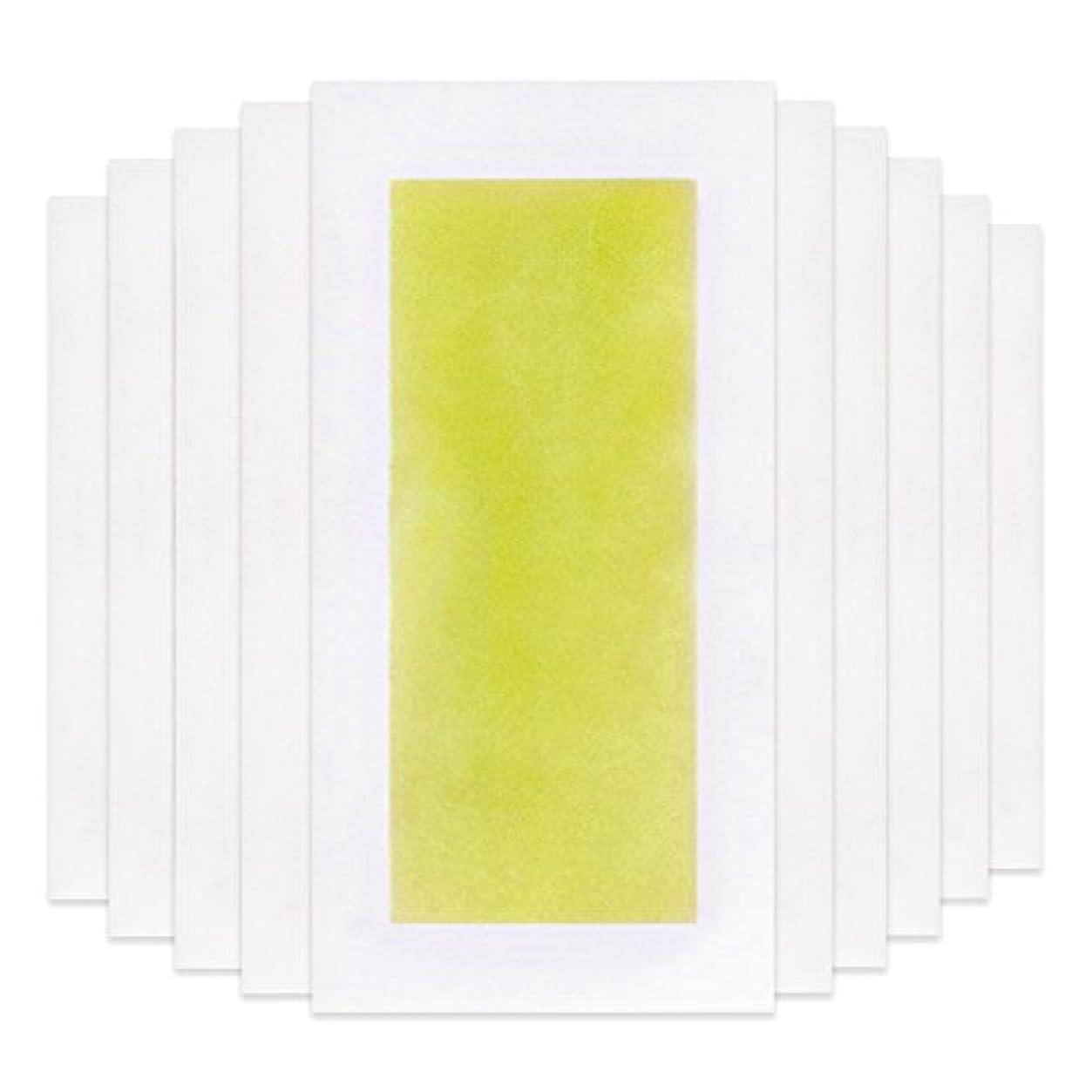 入口中世のジャンルRabugoo 脚の身体の顔のための10個のプロフェッショナルな夏の脱毛ダブルサイドコールドワックスストリップ紙 Yellow