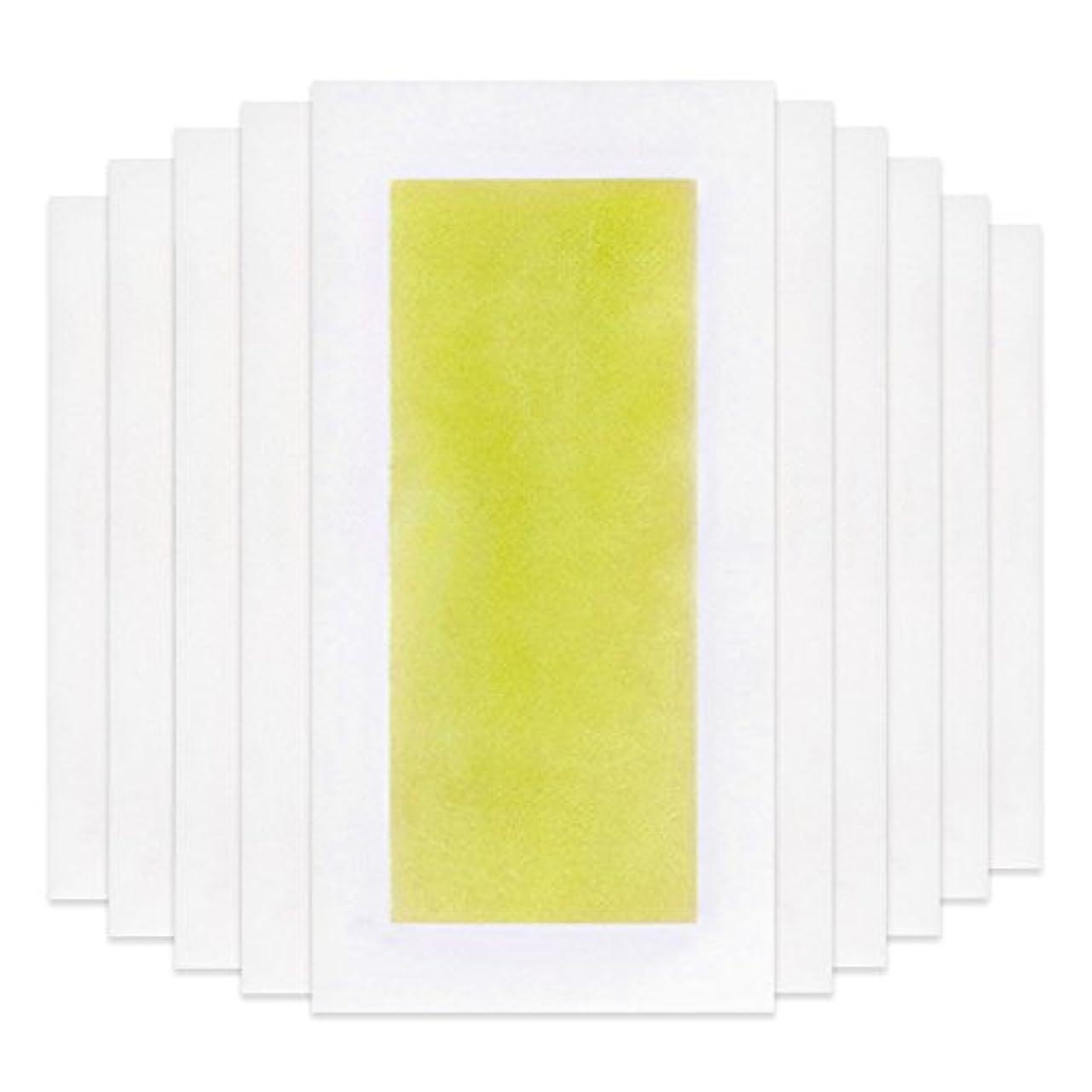 規制する注文サイクロプスRabugoo 脚の身体の顔のための10個のプロフェッショナルな夏の脱毛ダブルサイドコールドワックスストリップ紙 Yellow