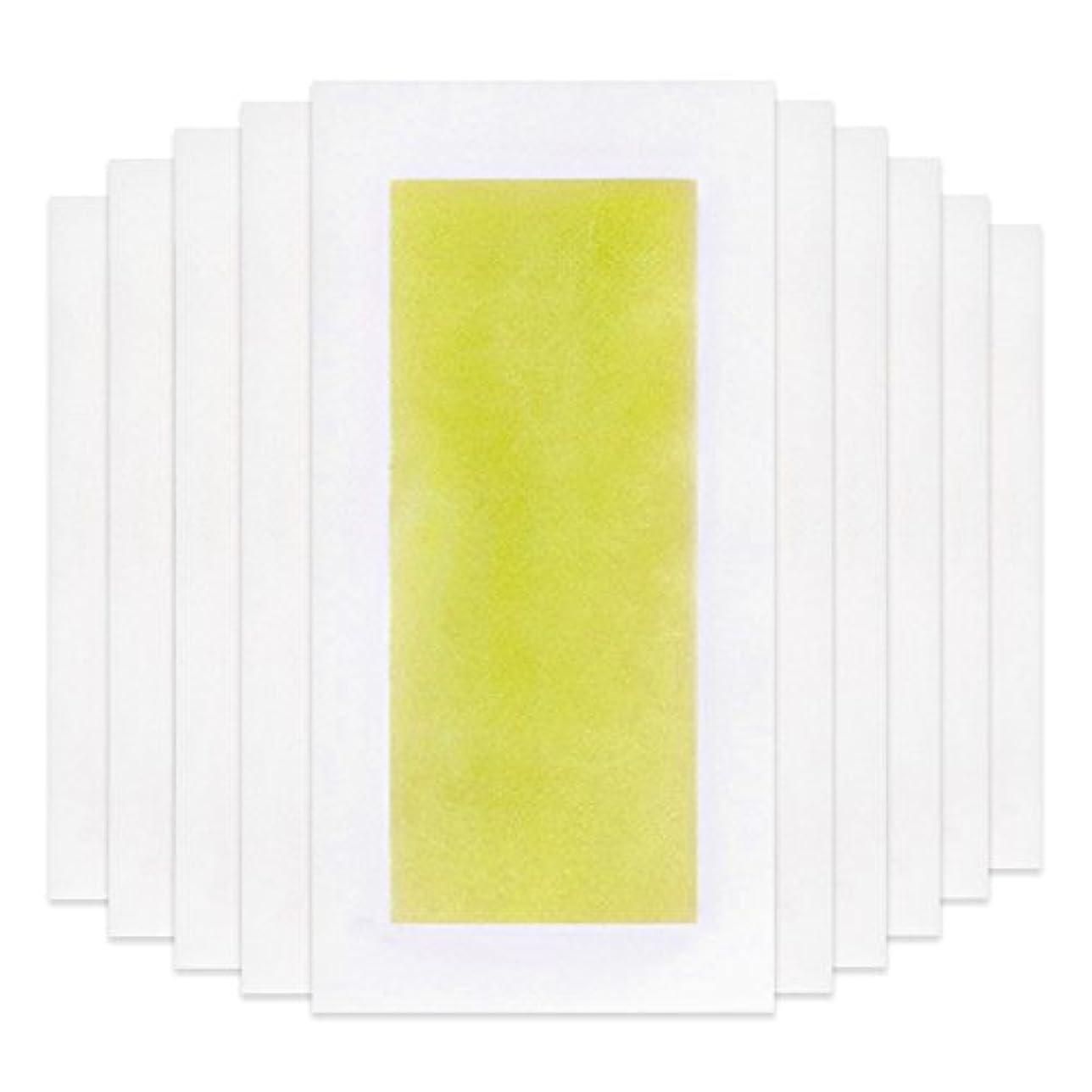付添人剥ぎ取る目を覚ますRabugoo 脚の身体の顔のための10個のプロフェッショナルな夏の脱毛ダブルサイドコールドワックスストリップ紙 Yellow