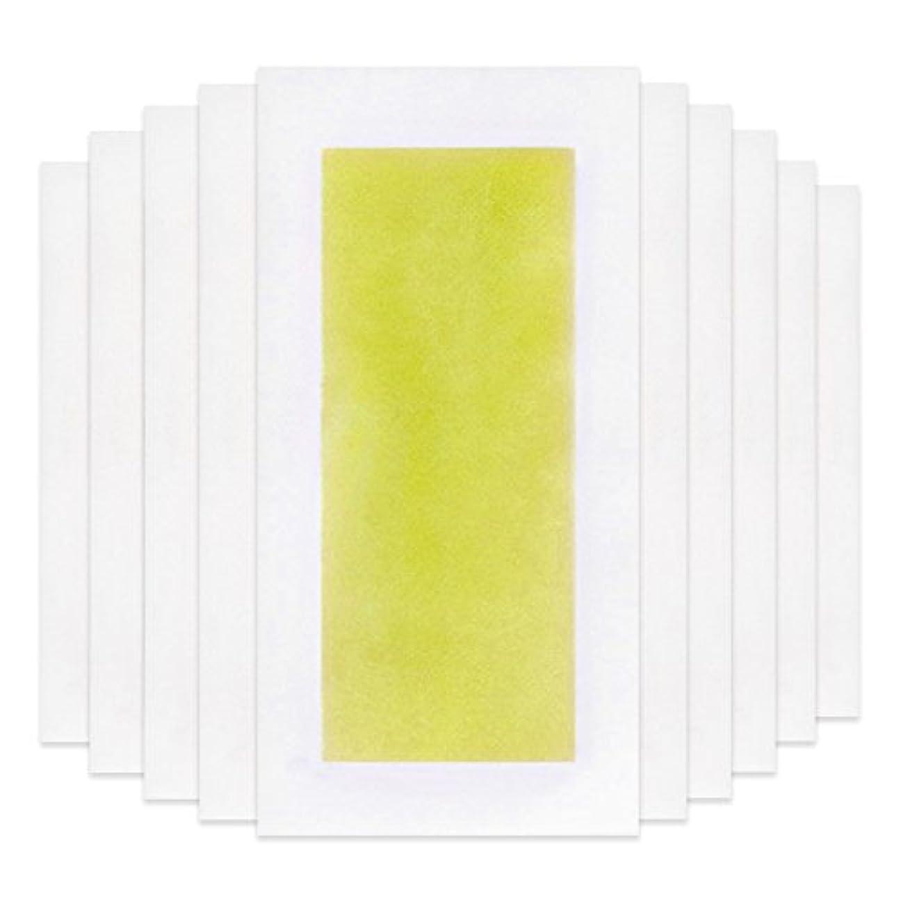 ストラトフォードオンエイボン集めるセクタRabugoo 脚の身体の顔のための10個のプロフェッショナルな夏の脱毛ダブルサイドコールドワックスストリップ紙 Yellow
