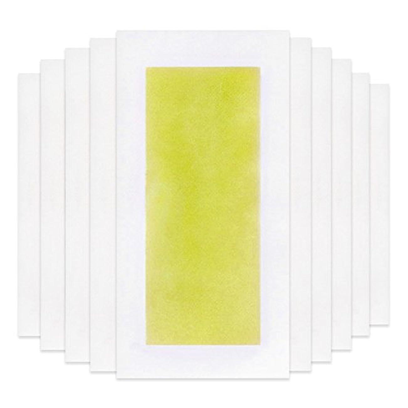 体操ジャンプする国内のRabugoo 脚の身体の顔のための10個のプロフェッショナルな夏の脱毛ダブルサイドコールドワックスストリップ紙 Yellow