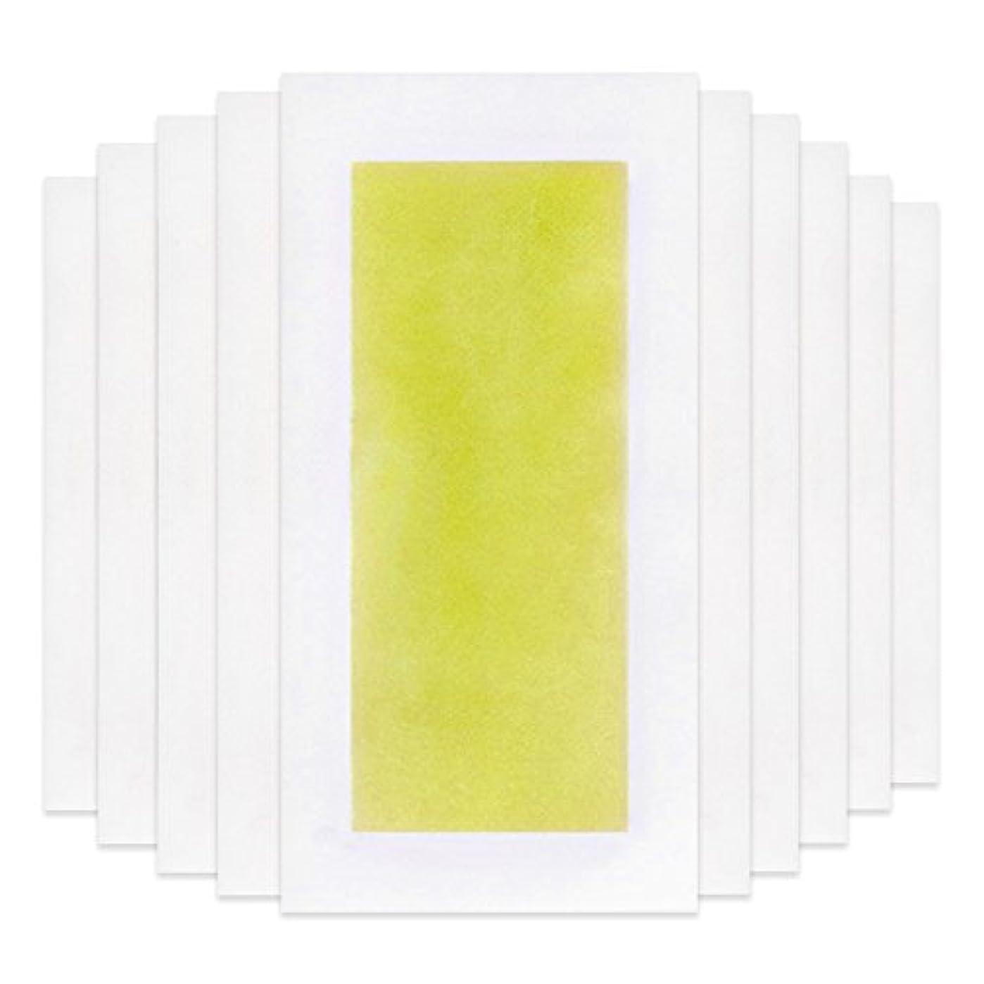 出会いトリップインサートRabugoo 脚の身体の顔のための10個のプロフェッショナルな夏の脱毛ダブルサイドコールドワックスストリップ紙 Yellow