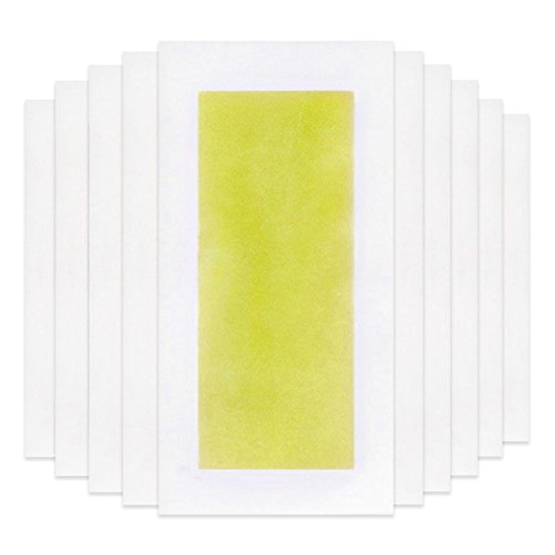追放するシルエットシルエットRabugoo 脚の身体の顔のための10個のプロフェッショナルな夏の脱毛ダブルサイドコールドワックスストリップ紙 Yellow
