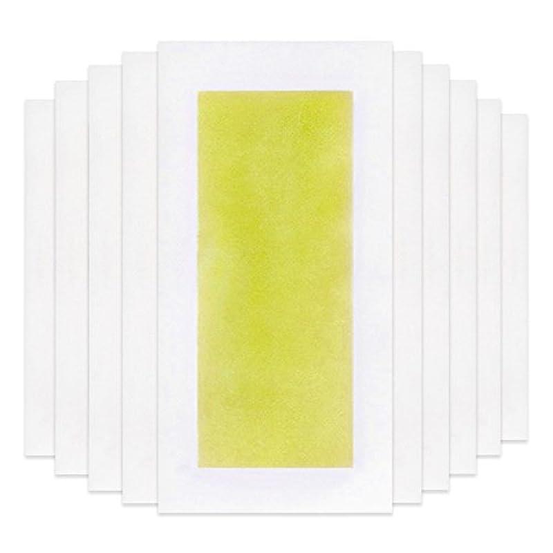 発疹保証するキャベツRabugoo 脚の身体の顔のための10個のプロフェッショナルな夏の脱毛ダブルサイドコールドワックスストリップ紙 Yellow