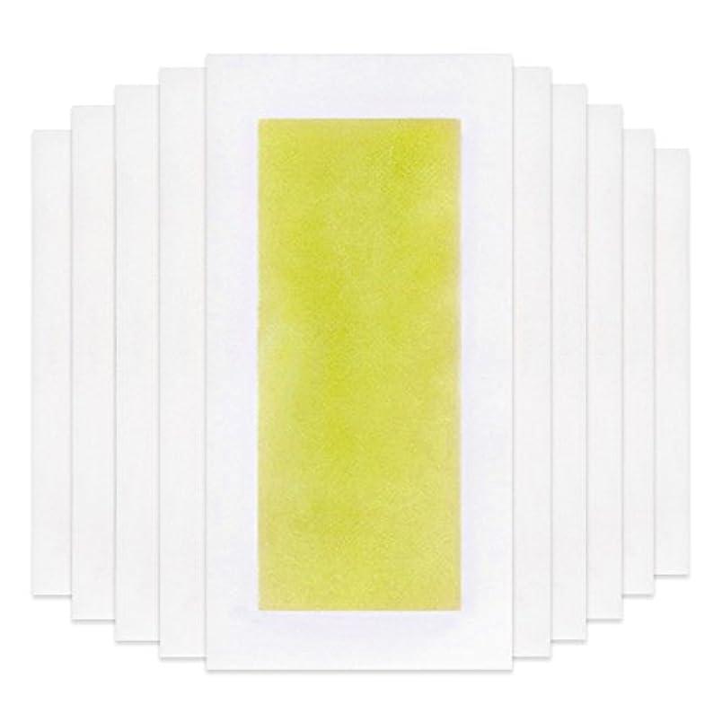 熟達したちっちゃい錆びRabugoo 脚の身体の顔のための10個のプロフェッショナルな夏の脱毛ダブルサイドコールドワックスストリップ紙 Yellow