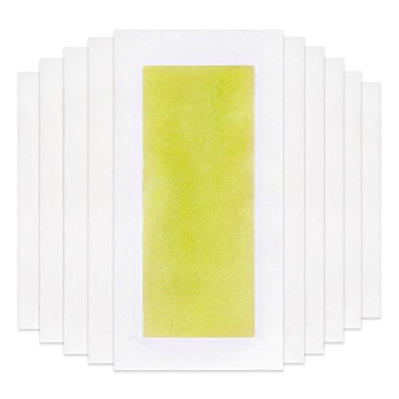 バルセロナ衝突するわずかにRabugoo 脚の身体の顔のための10個のプロフェッショナルな夏の脱毛ダブルサイドコールドワックスストリップ紙 Yellow