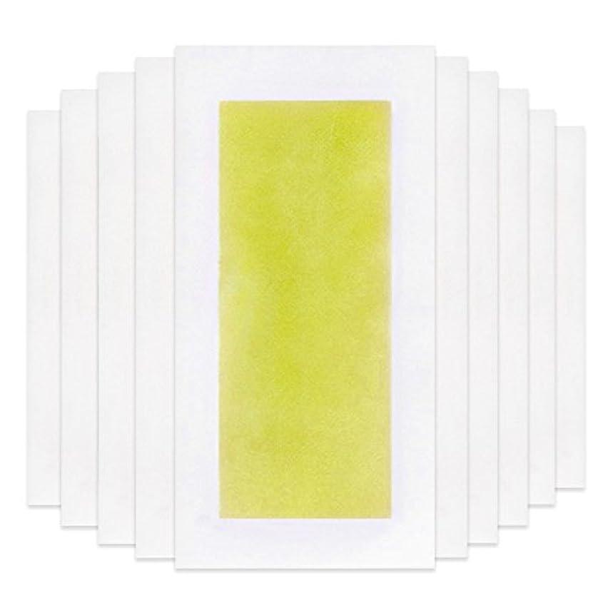 創造正規化今後Rabugoo 脚の身体の顔のための10個のプロフェッショナルな夏の脱毛ダブルサイドコールドワックスストリップ紙 Yellow