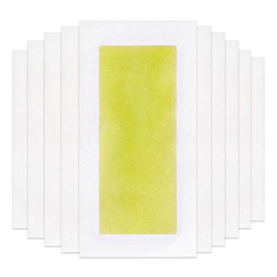 ペリスコープ不愉快に関係ないRabugoo 脚の身体の顔のための10個のプロフェッショナルな夏の脱毛ダブルサイドコールドワックスストリップ紙 Yellow