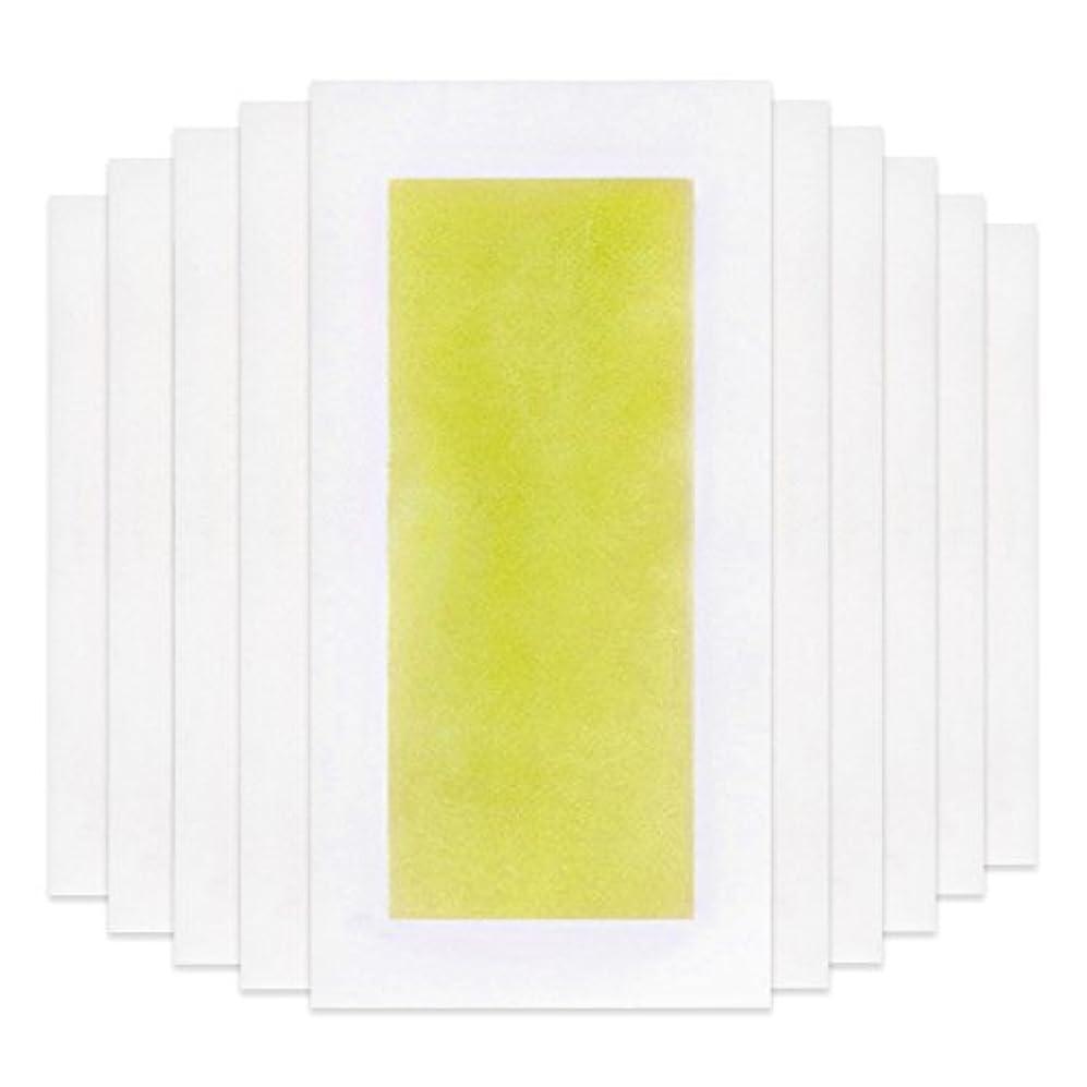 尊厳手荷物キャリッジRabugoo 脚の身体の顔のための10個のプロフェッショナルな夏の脱毛ダブルサイドコールドワックスストリップ紙 Yellow