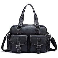 Matelun Man Cow Leather Business Shoulder Bag with Model Number 8888