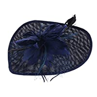 IPOTCH ダービー ハット ヘアバンド 公爵夫人帽 女性 1920年代 羽の魅力 コスチューム パーティー 結婚式 全5色 - 海軍