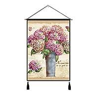 DUOLUO 北欧の装飾的なタペストリーの背景壁吊り布植物の背景布の布の布の綿のリネンの芸術の絵 DUOLUO (Size : A)