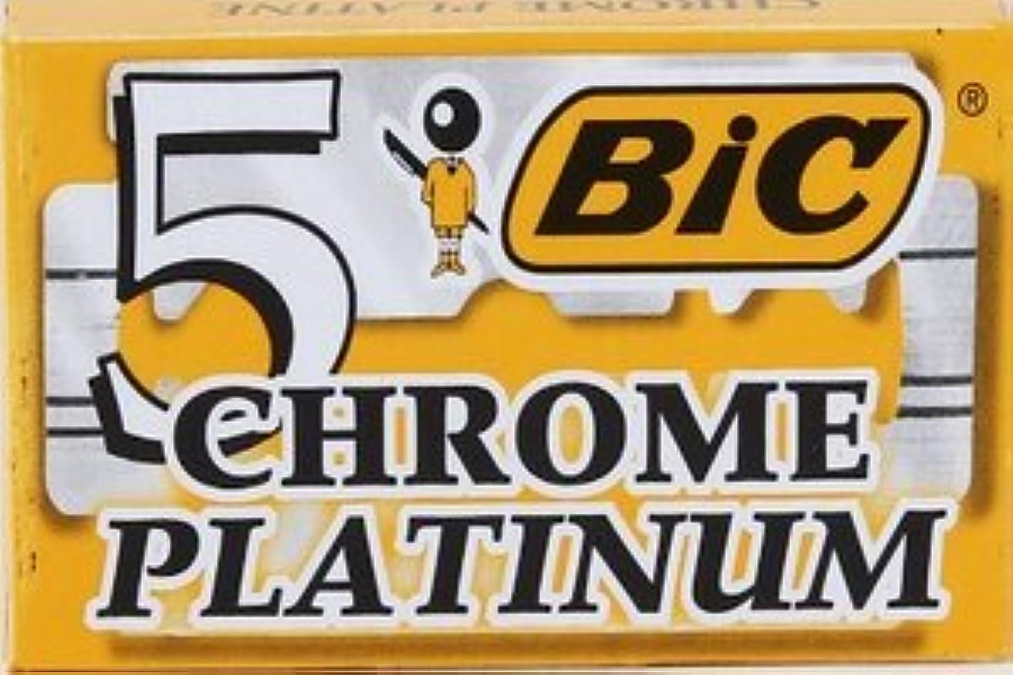 約束する粘り強い薄いですBIC Chrome Platinum 両刃替刃 5枚入り(5枚入り1 個セット)【並行輸入品】