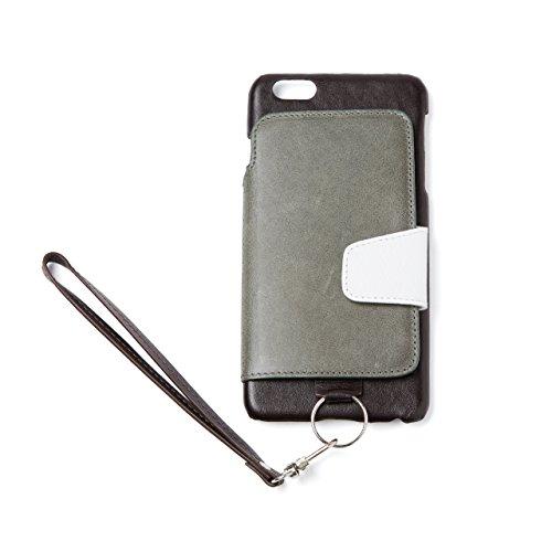 RAKUNI (ラクニ) iPhone 6/6s Plus用 本革 背面ポケット 財布型 ストラップ付き レザーケース(スタンド機能)(iPhone 6/6s Plus用) (アマゾン)