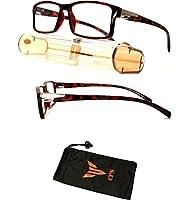 正方形長方形形状シンプルなデザインメンズレディースユニセックス老眼鏡リーダー