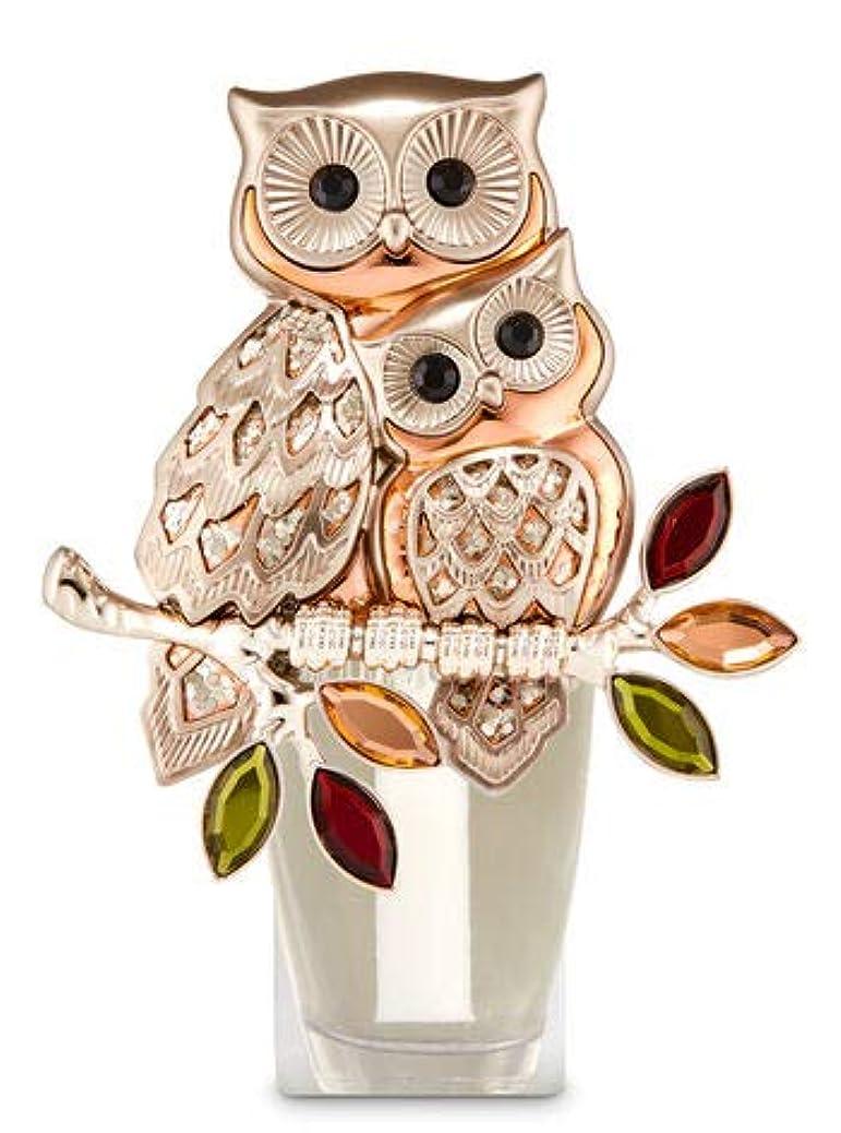 天窓臭い適応する【Bath&Body Works/バス&ボディワークス】 ルームフレグランス プラグインスターター (本体のみ) オウルズ ナイトライト フクロウ Wallflowers Fragrance Plug Owls Night...