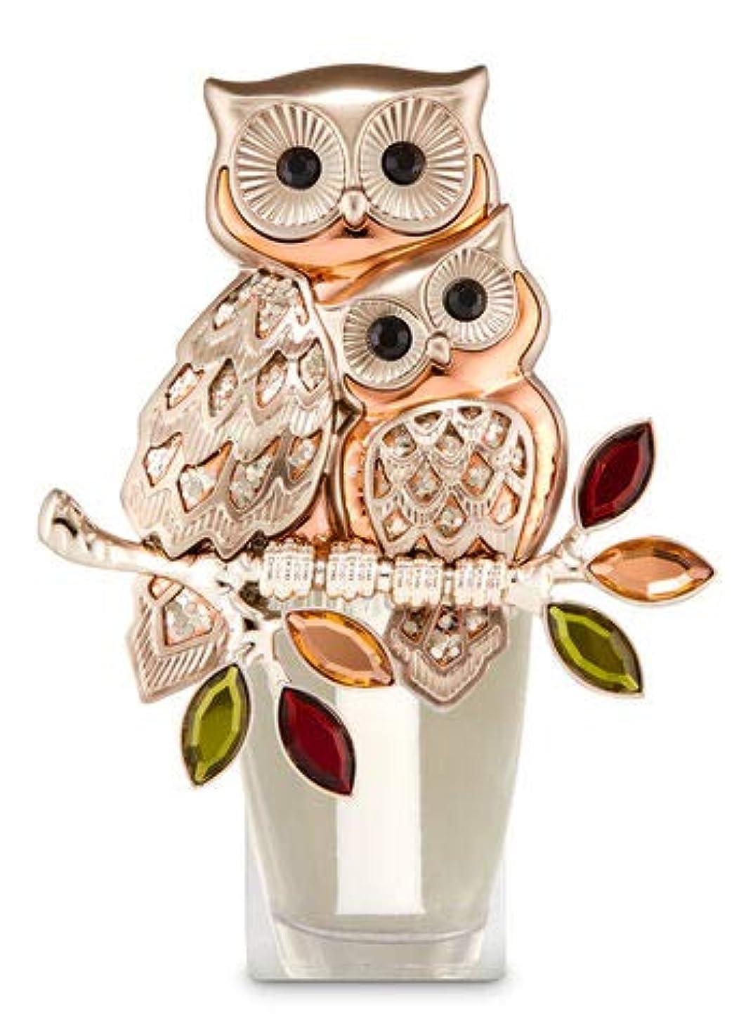 文字殺すカロリー【Bath&Body Works/バス&ボディワークス】 ルームフレグランス プラグインスターター (本体のみ) オウルズ ナイトライト フクロウ Wallflowers Fragrance Plug Owls Night Light [並行輸入品]