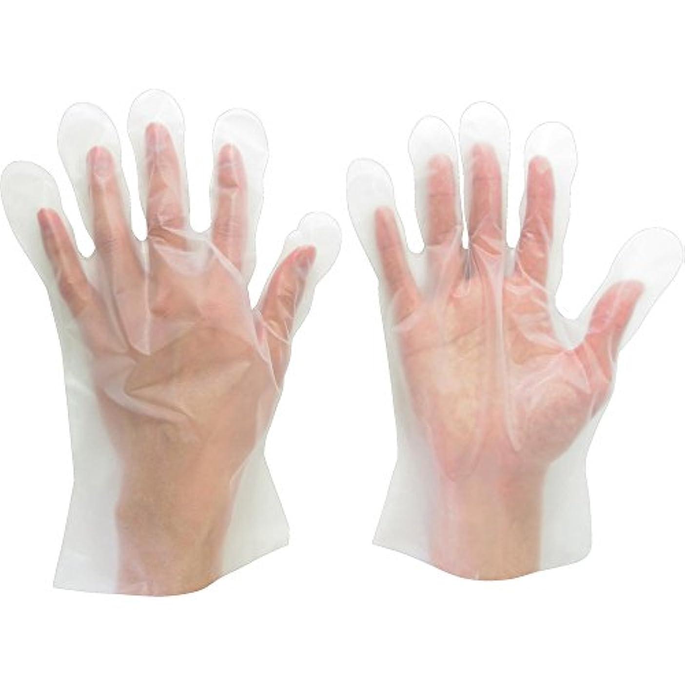 ミドリ安全 ポリエチレンディスポ手袋 ベルテ573 100枚 袋入 L VERTE-573-L ポリエチレン使い捨て手袋