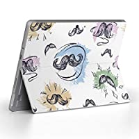 Surface go 専用スキンシール サーフェス go ノートブック ノートパソコン カバー ケース フィルム ステッカー アクセサリー 保護 ヒゲ カラフル イラスト 012294