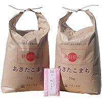 【精米】秋田県産 農家直送 白米あきたこまち 10kg(5kg×2袋) 平成29年産 古代米付き