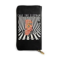 Cage The Elephant Melophobia レザー ラウンドファスナー 長財布 メンズ 牛革 本革 さいふ Long Wallet