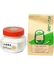 自然健康社 夕食寒天 750g + 減脂茶?徳用 180パック