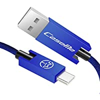 USB Type C ケーブル Caseme USB 3.0 急速充電 ケーブル 1.2M USB-A to USB-C ケーブル 高速データ転送 Xperia XZ / LG V30 / Samsung Galaxy Note 8 / S8 / S8 + / S9 / S9+ / Huawei P10 / ZenFone 4 / ChromeBook Pixel / Nokia N1 Tablet / NuAns NEO / Nexus 6P / Nintendo Switch / MacBook レー (青)