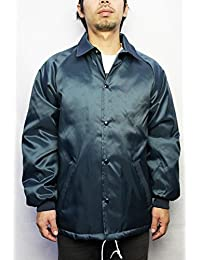 American Spirit Wear (アメリカンスピリットウェア)/#364 NYLON COACHES JACKET with QUILTED LINING (Navy)