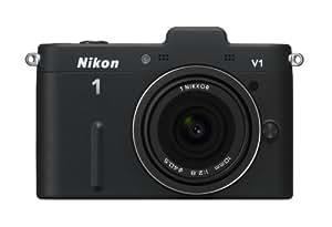 Nikon ミラーレス一眼カメラ Nikon 1 (ニコンワン) V1 (ブイワン) 薄型レンズキット ブラックN1 V1ULK BK