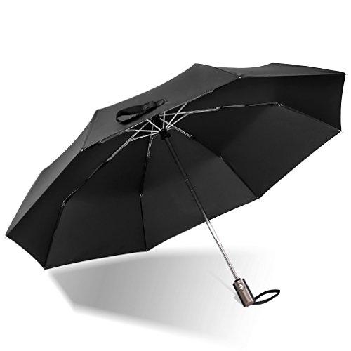 折りたたみ傘 ワンタッチ 自動開閉 折り畳み傘 超撥水 軽量 大きい 耐風 晴雨兼用 AFUKA (ブラック)