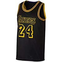 SansFin Kobe Bryant, Basketball Jersey - Black, City Edition, New Embroidered Fabric, Gift Items Sports Items (M,Black)