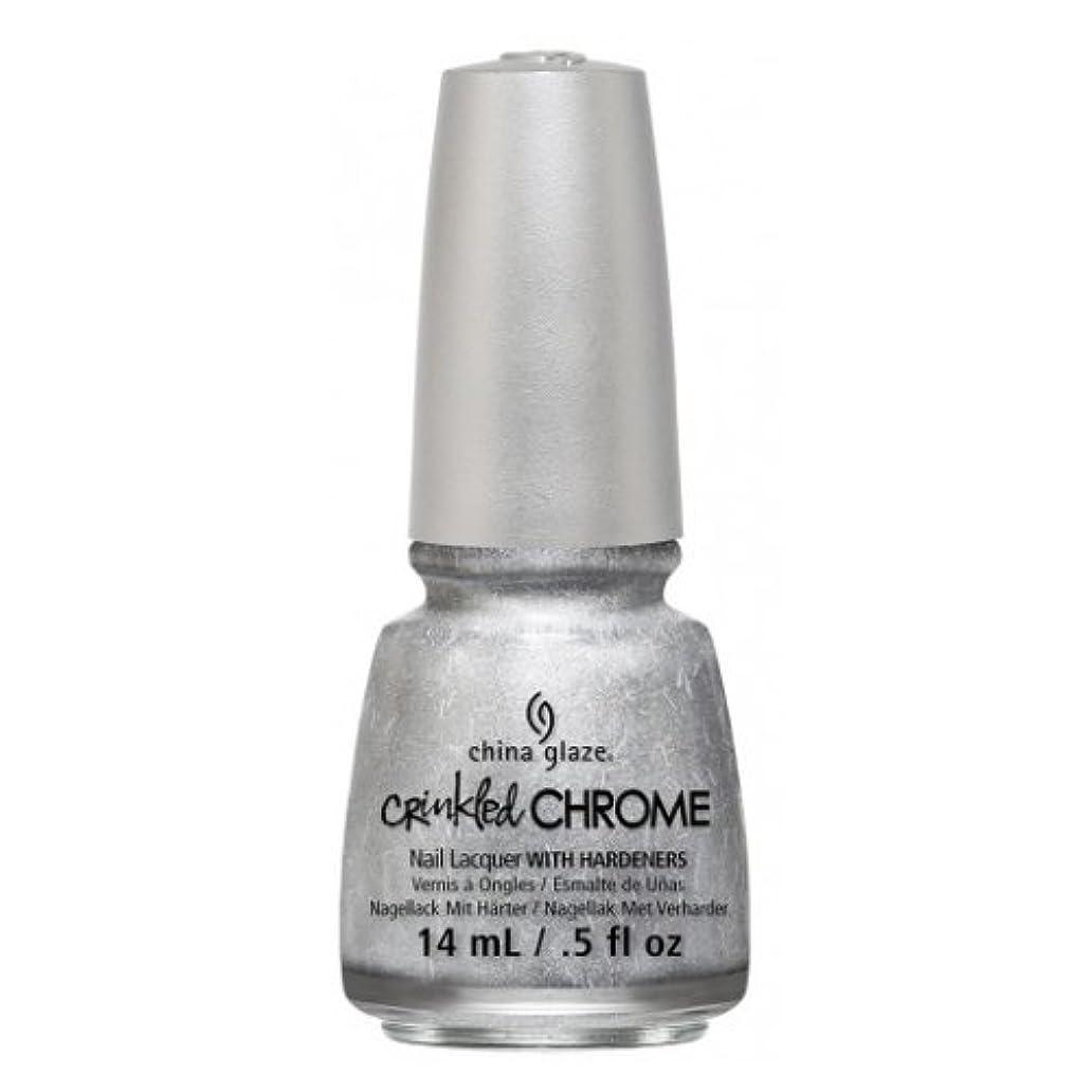 誰も不毛のラッシュ(3 Pack) CHINA GLAZE Nail Lacquer - Crinkled Chrome - Aluminate (並行輸入品)