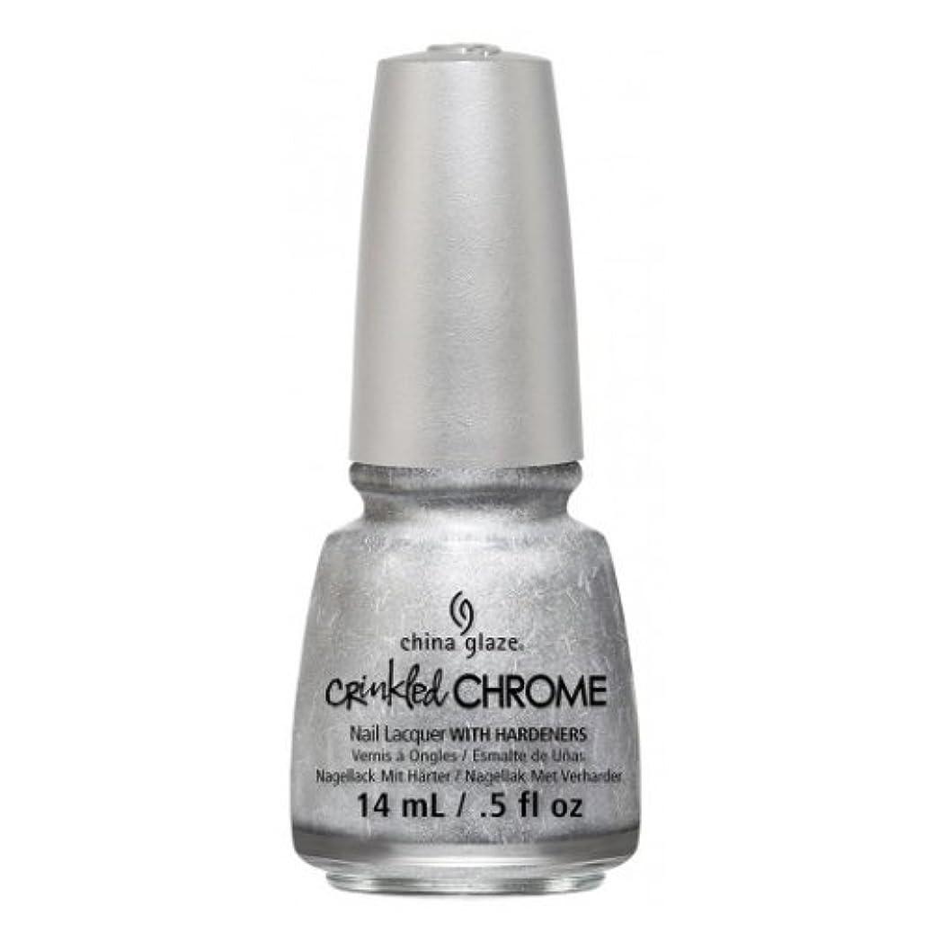粘性のオークションフィット(6 Pack) CHINA GLAZE Nail Lacquer - Crinkled Chrome - Aluminate (並行輸入品)