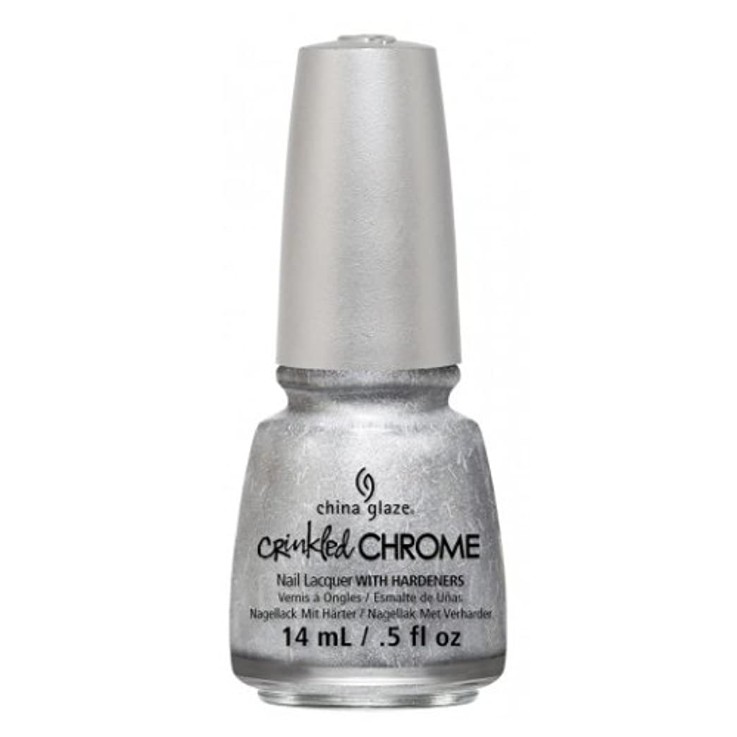 占める同様に崖(6 Pack) CHINA GLAZE Nail Lacquer - Crinkled Chrome - Aluminate (並行輸入品)