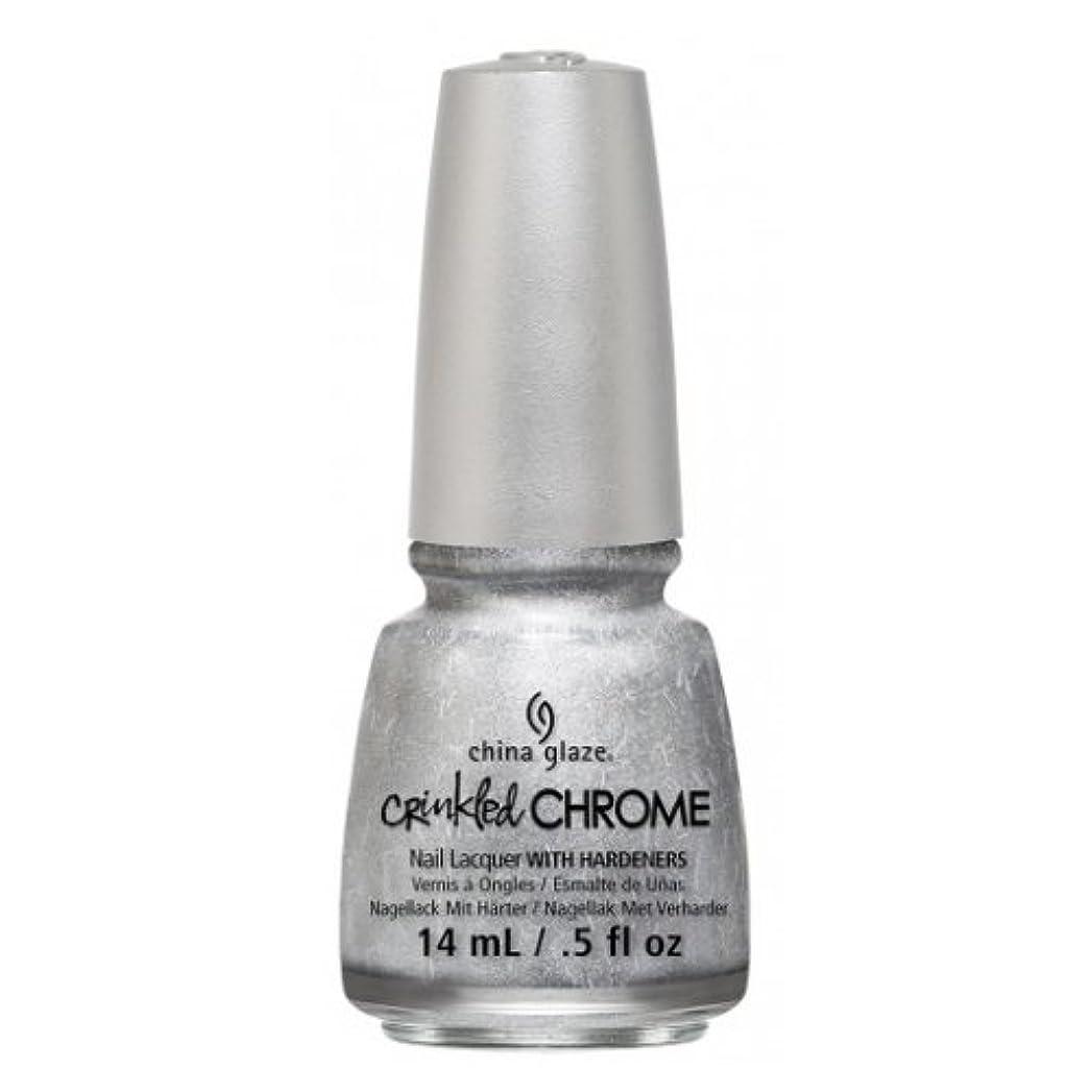 入植者継続中収容する(3 Pack) CHINA GLAZE Nail Lacquer - Crinkled Chrome - Aluminate (並行輸入品)