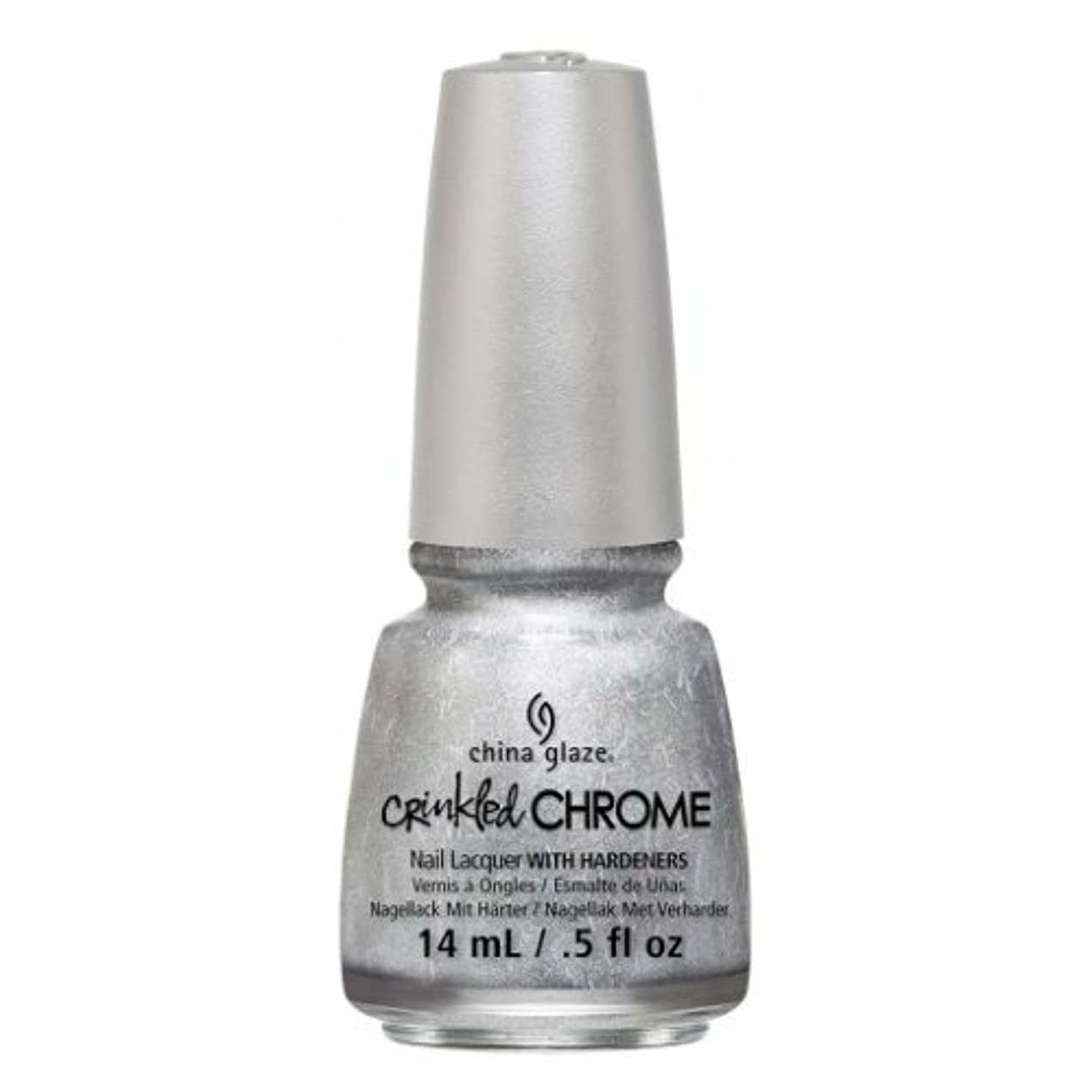 治安判事半ばのぞき穴(6 Pack) CHINA GLAZE Nail Lacquer - Crinkled Chrome - Aluminate (並行輸入品)