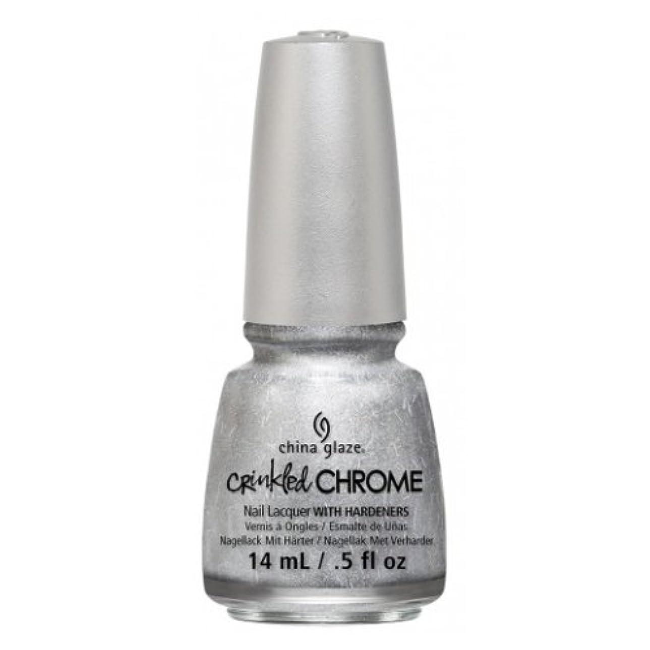 住むパット削る(6 Pack) CHINA GLAZE Nail Lacquer - Crinkled Chrome - Aluminate (並行輸入品)