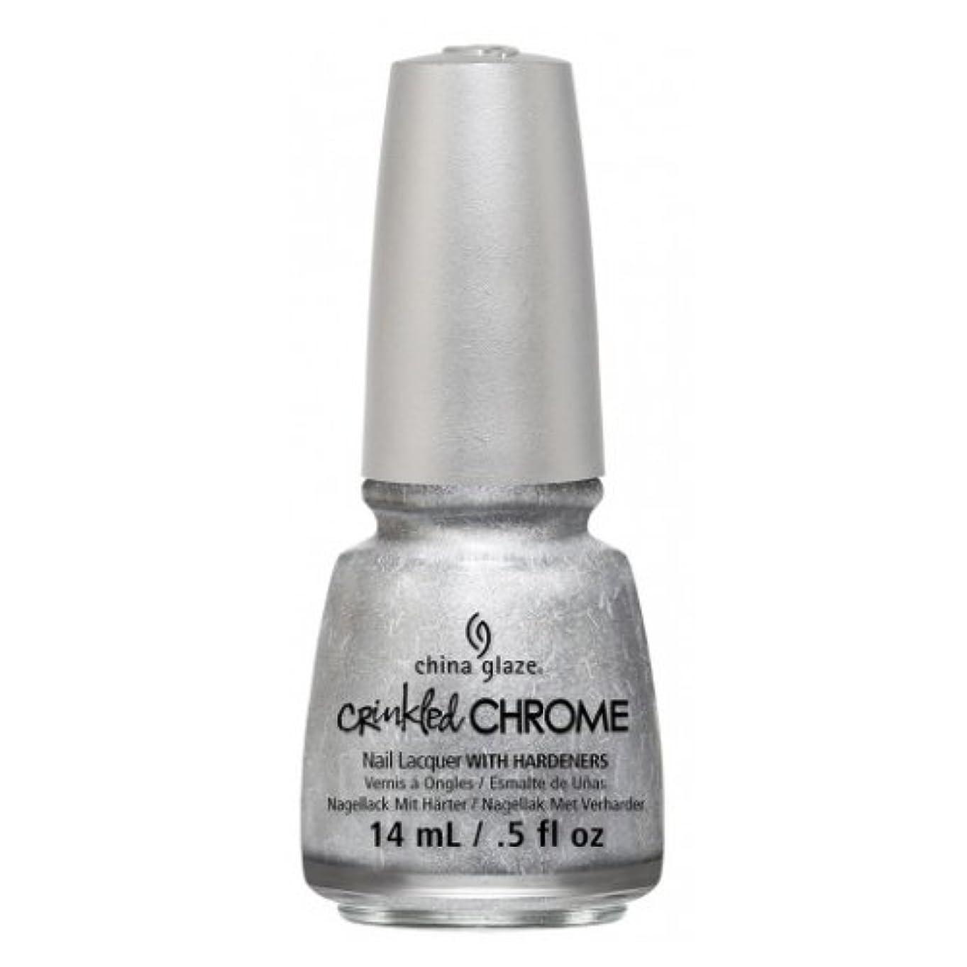 縫う感じ光沢(3 Pack) CHINA GLAZE Nail Lacquer - Crinkled Chrome - Aluminate (並行輸入品)