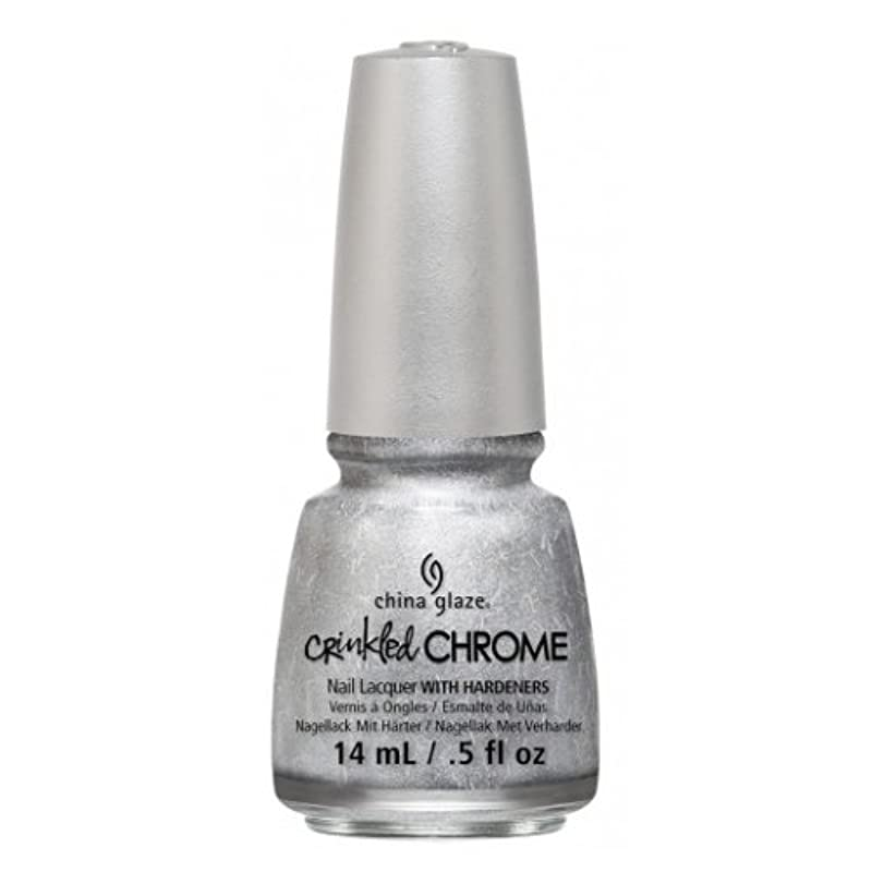 安全飢饉受け入れるCHINA GLAZE Nail Lacquer - Crinkled Chrome - Aluminate (並行輸入品)