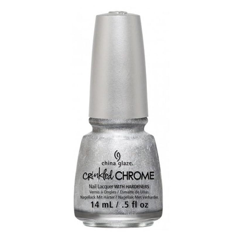 上キャンドル悪意のある(6 Pack) CHINA GLAZE Nail Lacquer - Crinkled Chrome - Aluminate (並行輸入品)