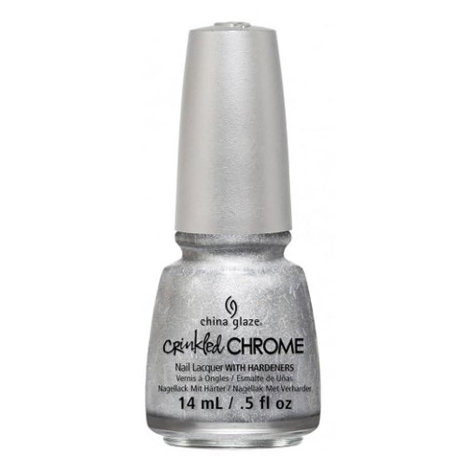 大混乱燃やす外交問題(3 Pack) CHINA GLAZE Nail Lacquer - Crinkled Chrome - Aluminate (並行輸入品)
