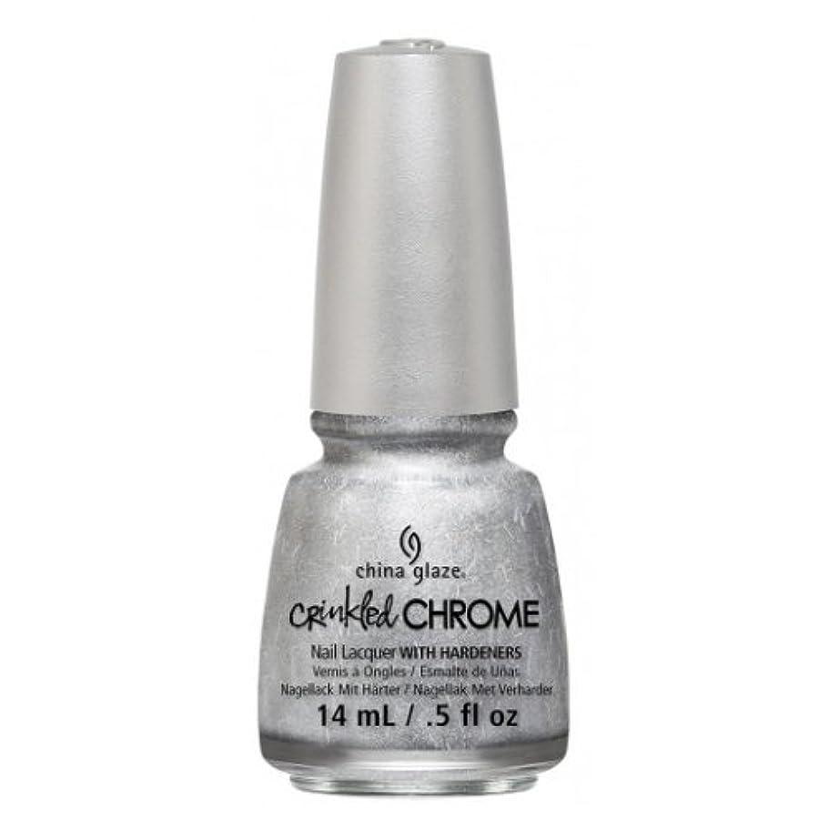 主情緒的包帯CHINA GLAZE Nail Lacquer - Crinkled Chrome - Aluminate (並行輸入品)