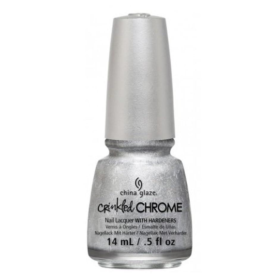 八百屋さんスペシャリスト雨の(3 Pack) CHINA GLAZE Nail Lacquer - Crinkled Chrome - Aluminate (並行輸入品)