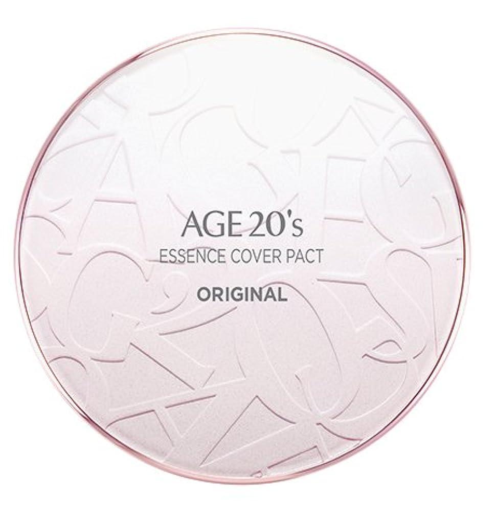 美的安定しましたシニスAGE 20's Essence Cover Pact Original [Pink Latte] 12.5g + Refill 12.5g (#21)/エイジ 20's エッセンス カバー パクト オリジナル [ピンクラテ...