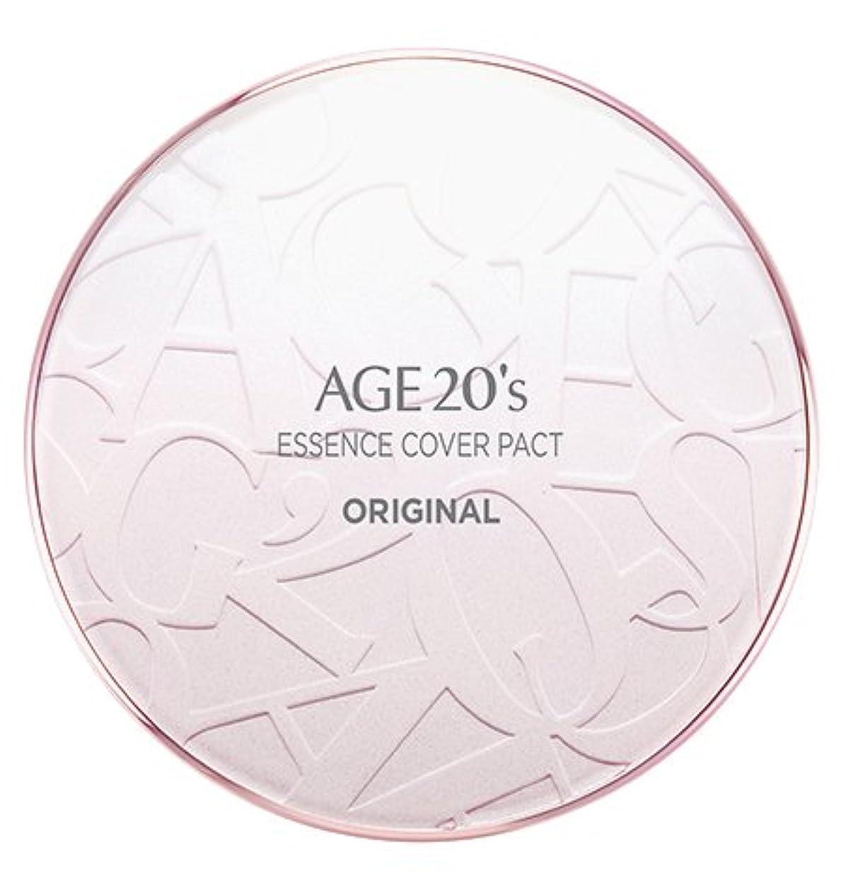 浸食怖い幸運なAGE 20's Essence Cover Pact Original [Pink Latte] 12.5g + Refill 12.5g (#21)/エイジ 20's エッセンス カバー パクト オリジナル [ピンクラテ...