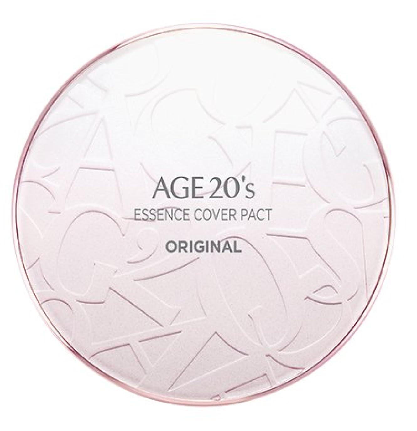ページ半球速記AGE 20's Essence Cover Pact Original [Pink Latte] 12.5g + Refill 12.5g (#21)/エイジ 20's エッセンス カバー パクト オリジナル [ピンクラテ] 12.5g + リフィル 12.5g (#21) [並行輸入品]