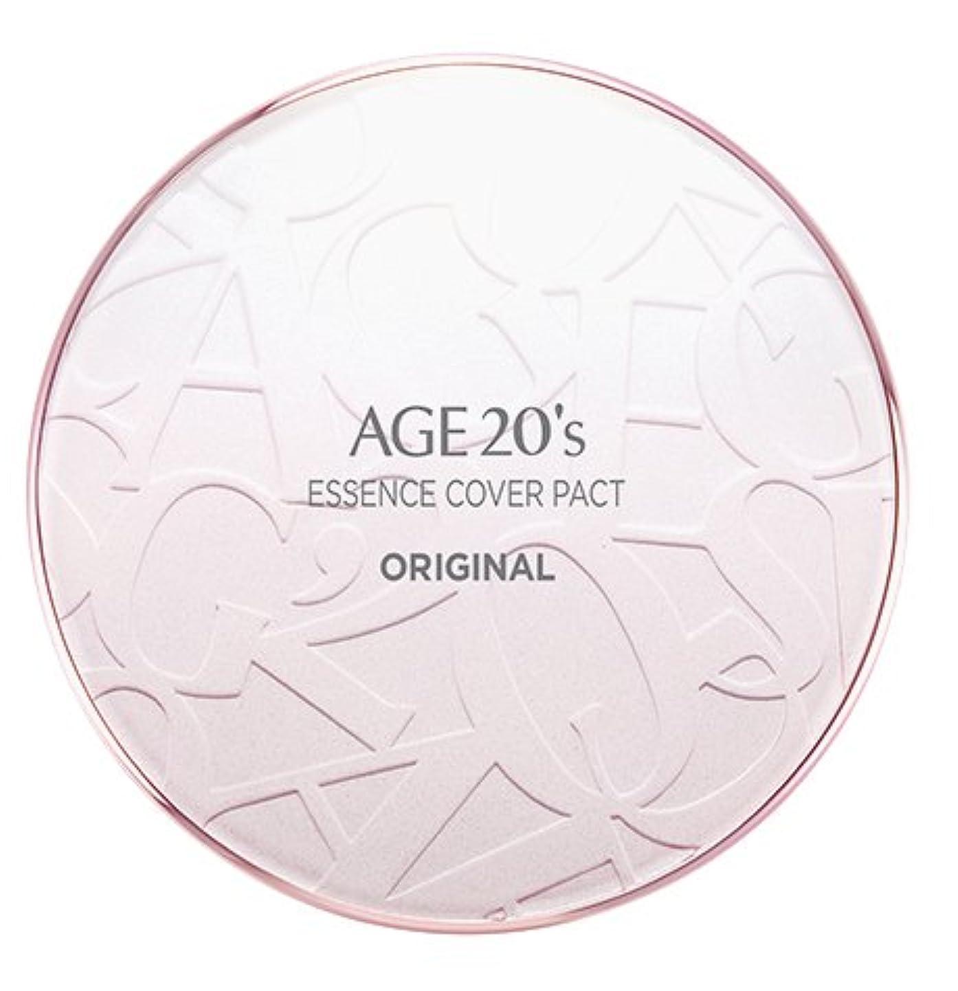 サスペンションコンパニオン飢えたAGE 20's Essence Cover Pact Original [Pink Latte] 12.5g + Refill 12.5g (#21)/エイジ 20's エッセンス カバー パクト オリジナル [ピンクラテ...