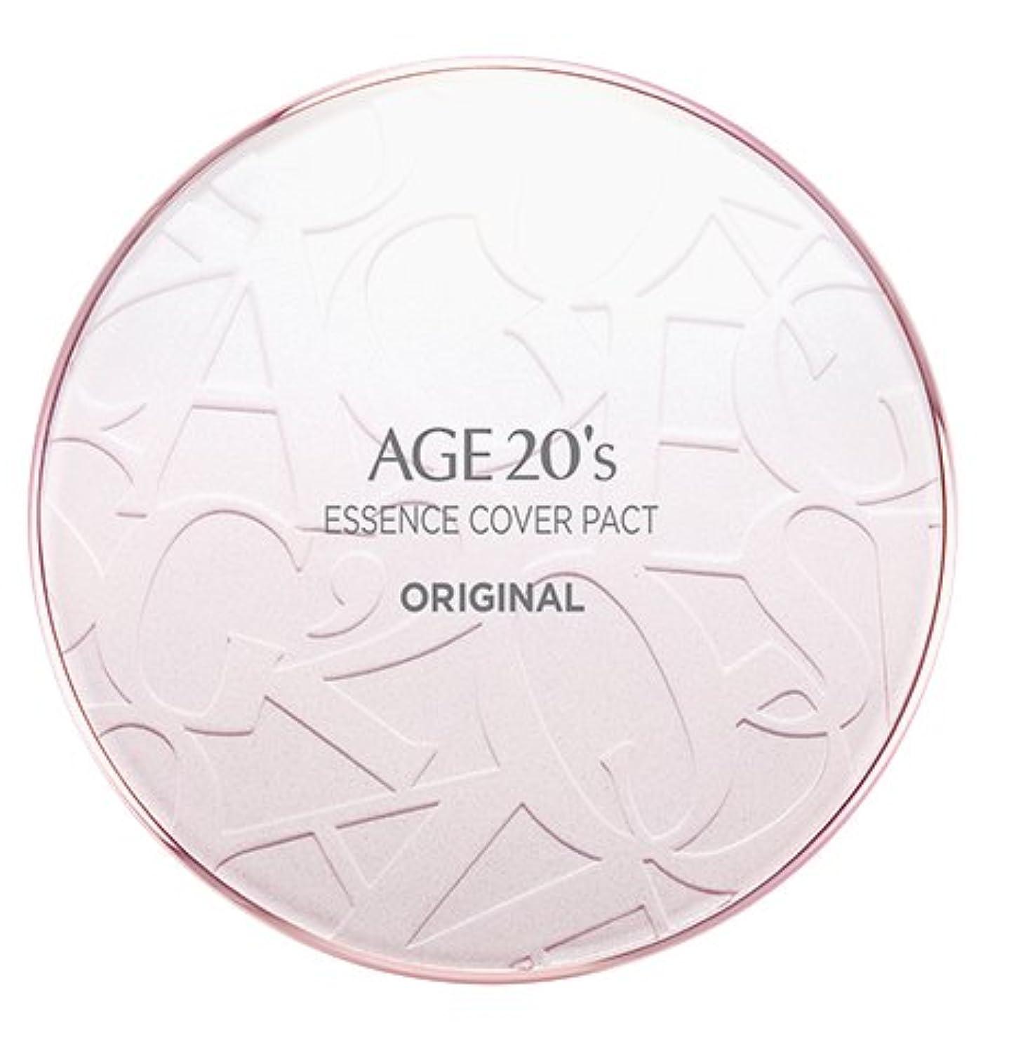 宮殿パウダー待つAGE 20's Essence Cover Pact Original [Pink Latte] 12.5g + Refill 12.5g (#21)/エイジ 20's エッセンス カバー パクト オリジナル [ピンクラテ] 12.5g + リフィル 12.5g (#21) [並行輸入品]